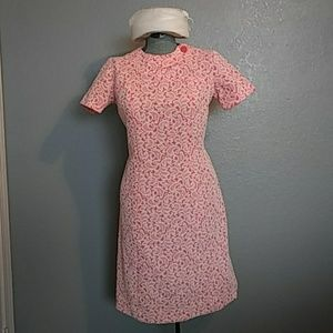 60's Mod Lace Pattern Dress